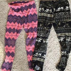 Other - Bundle 2 pair girls leggings